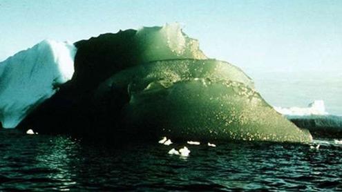 1399373 43131230 - سائنسدان انٹارکٹکا میں سبزآئس برگز کی اصلیت جاننے کیلئے پریشان