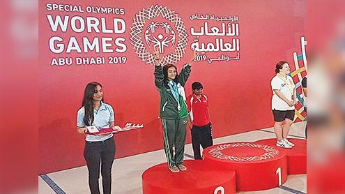 1404182 69794533 - سپیشل اولمپکس ورلڈ گیمز،شانزہ نے چاندی تمغہ جیت لیا