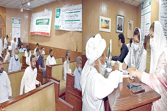 ڈاکٹر فرح مسعود کی ریونیوعوامی خدمت کچہری میں شرکت