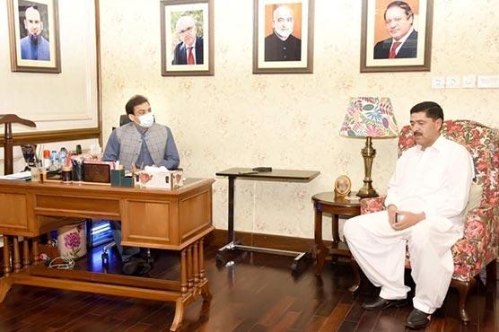 حمزہ شہباز سے عبدالمجید خان  خنانخیل کی اہم ملاقات