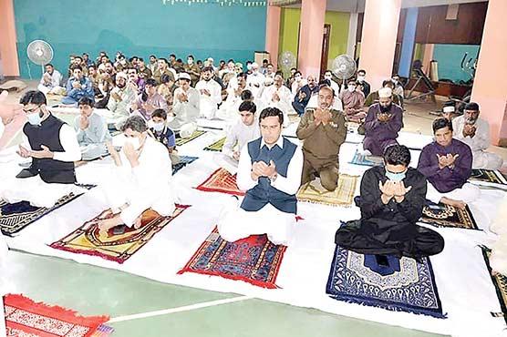 جامع مسجد  پولیس لائن  میں عید نماز ادا کی گئی