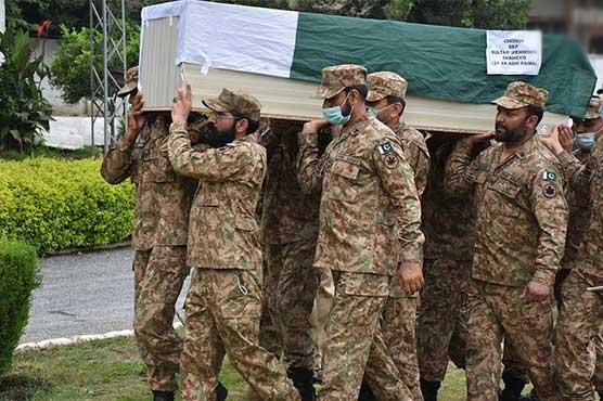 آزاد کشمیر :شہید فوجیوں کی مظفرآباد میں نماز جنازہ ادا