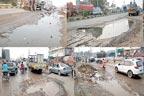 سگیاں روڈٹوٹ پھوٹ کا شکار،پانی جمع:تعمیر کیلئے صرف10کروڑمختص