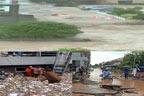 اسلام آباد میں سیلاب ، گاڑیاں بہہ گئیں : مسلسل بارش سے تباہی ، پانی گھروں ، مارکیٹوں میں داخل ، ماں بیٹا ڈوب گئے ، راول ڈیم کے بھرنے پر سپل ویز کھول دیئے گئے ، نالہ لئی بھی بپھرنے لگا