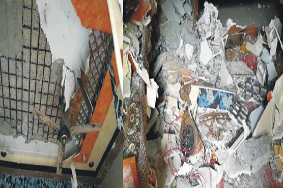 گھر کی چھت پر لگی سیلنگ گرنے سے 8افراد شدید زخمی