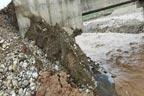 افتتاح کے چند روز چچالی پل کے پشتے بارش میں بہہ گئے