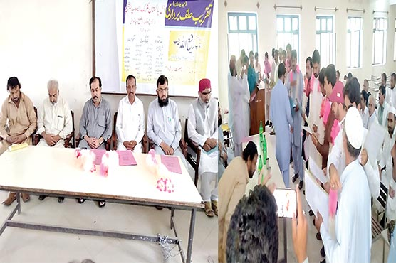 میانوالی :کلرکس ایسوسی ایشن  کالج ونگ کے عہدیداروں  کی تقریب حلف برداری