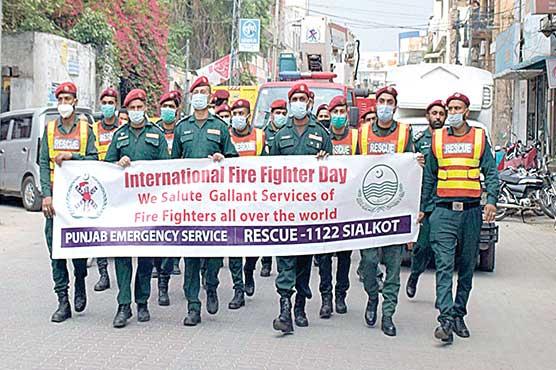 ریسکیو 1122کی جانب سے  فائر فائٹرز کا عالمی دن منایا گیا