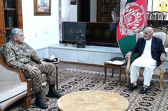 پرامن افغانستان کا مطلب پرامن پاکستان : آرمی چیف  ، کابل میں اشرف غنی عبداللہ عبداللہ سے ملاقاتیں