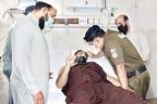آر پی او کی ملزمان کی فائرنگ سے زخمی کانسٹیبل کی ہسپتال میں عیادت