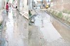 راہوالی:نکاسی آب کے نالے  ٹو ٹنے سے پانی سڑک پر جمع