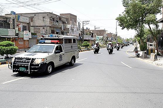 کورونا ایس اوپیز کی آگاہی ، سٹی پولیس کا ملتان میں فلیگ مارچ