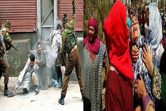 مقبوضہ کشمیر،3نوجوانوں کی شہادت پر مظاہرہ