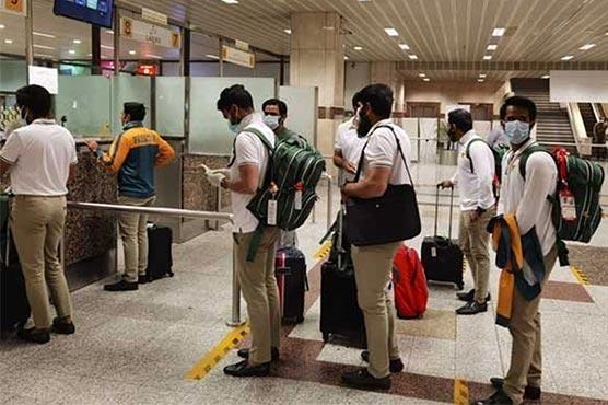 زمبابوے کے کامیاب دورے کے بعدقومی ٹیم لاہور پہنچ گئی