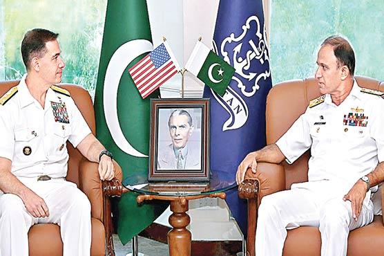 کمانڈر امریکی سینٹرل نیول کمانڈکی  نیول چیف امجد نیازی سے ملاقات