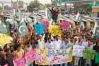 عوامی رکشہ یونین کا مہنگائی کیخلاف احتجاجی مظاہرہ