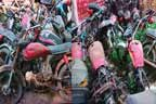 پولیس مال خانوں میں سینکڑوں موٹر سائیکلیں کباڑ