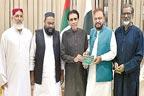 ڈاکٹر خالد مقبول سے سندھ  تاجر اتحاد کے وفد کی ملاقات