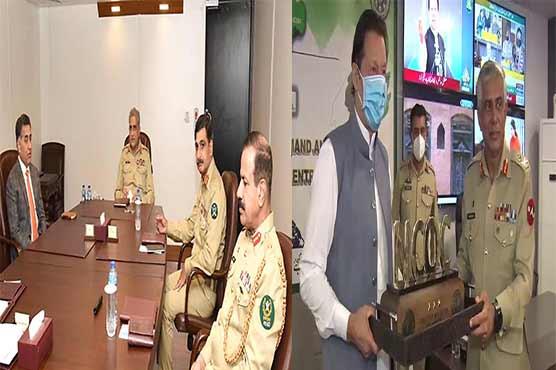 وزیراعظم ، آرمی چیف  کورونا اجلاس میں ایک ساتھ : سپہ سالارکو ڈی جی آئی ایس آئی فیض حمید کی بریفنگ