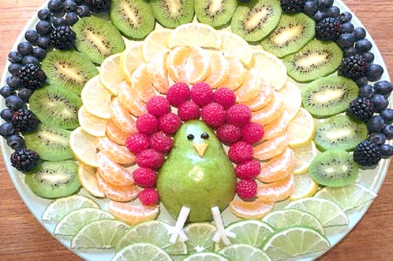 بچوں کو پھل سبزیاں کھلانے کیلئے نصف پلیٹ کی ترکیب