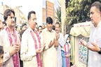 کیچڑ میں گرنے والی طالبہ نے سیوریج منصوبے کا افتتاح کردیا