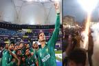 پاکستان کی بھارت کو تاریخی شکست : ورلڈ کپ ٹی20 میچ میں بابر اعظم، رضوان کی جارحانہ بیٹنگ، بھارتی سورماؤں کو دھول چٹا دی، ملک بھر میں جشن