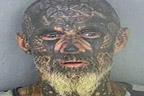 چہرے پر ڈیزائن بنوالے والے ملزم کاچہرہ ہی بگڑ گیا