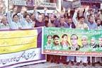 لالہ موسیٰ:ٹیکسوں کی بھرمار ،تاجروں کا احتجاجی مظاہرہ