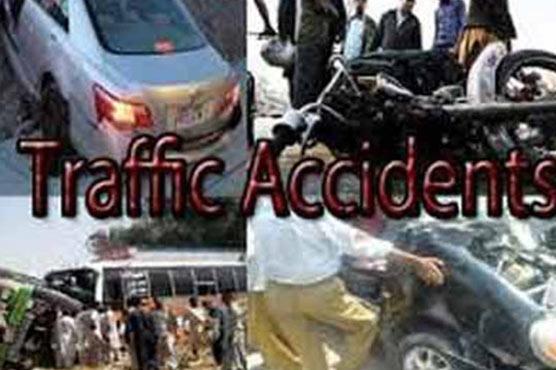 کار کی ٹکر سے موٹرسائیکل سوار زخمی