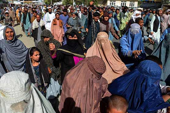 قندھار:بے دخلی کے حکم پر شہریوں کا طالبان کیخلاف احتجاج