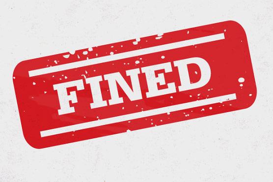 ایس او پیز کی خلاف ورزیوں  پر مزید 36 ہزار جر مانہ