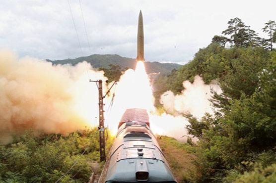 شمالی کوریا کا ٹرین کے ذریعے  بیلسٹک میزائل کا تجربہ