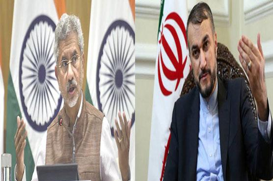 ایرانی وزیرخارجہ کی بھارتی  ہم منصب سے ملاقات