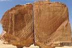 دو برابر حصوں میں تقسیم چٹان، سعودیہ کا ارضیاتی عجوبہ