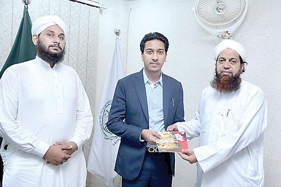 دعوت اسلامی کے وفدکی چودھری  احسن سلیم بریار سے ملاقات