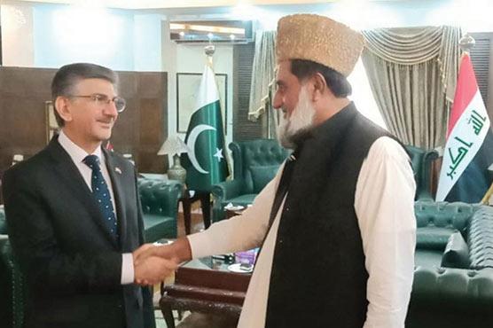 سید محمد صفدر شاہ گیلانی کی عراق  کے سفیر کے ساتھ ملاقات