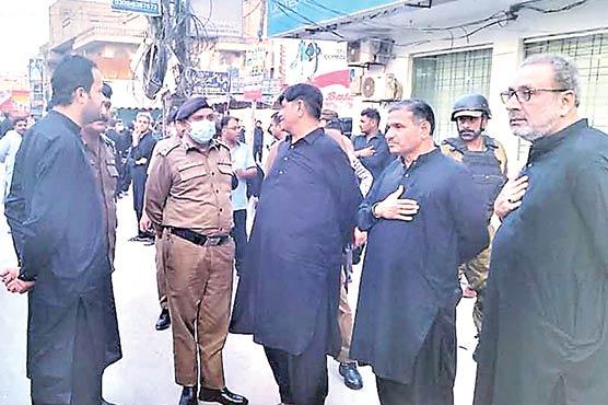 چہلم حضرت امام حسینؓ سی پی اوملتان نے سکیورٹی انتظامات کا جائزہ لیا