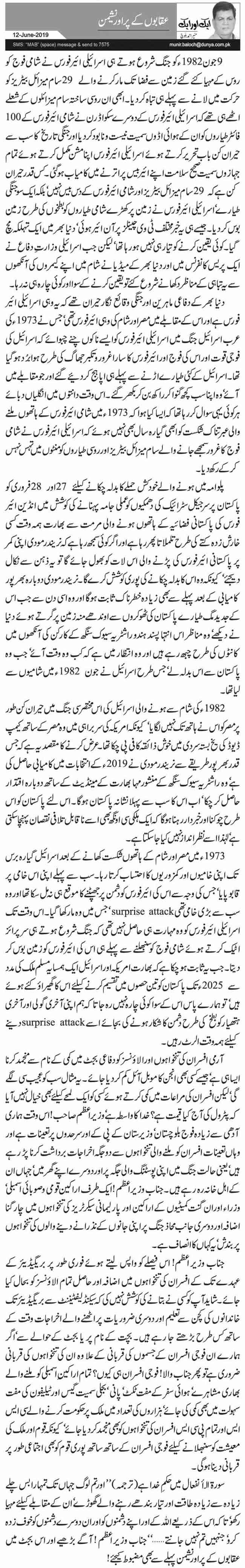 27417 17989750 - عقابوں کے پر اور نشیمن  منیر احمد بلوچ