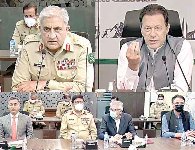 اسلام آباد:وزیراعظم عمران خان ،آرمی چیف جنرل قمر جاوید باجوہ این سی او سی کے اجلاس میں شریک ہیں،وفاقی وزیر اسد عمر ،لیفٹیننٹ جنرل فیض حمید و دیگر اعلیٰ حکام بھی موجود ہیں